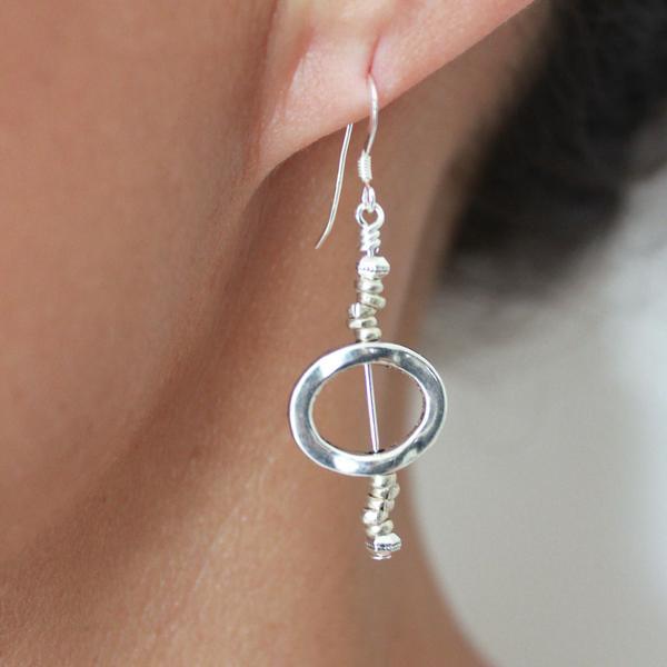 Shown: Solo Oval Earrings