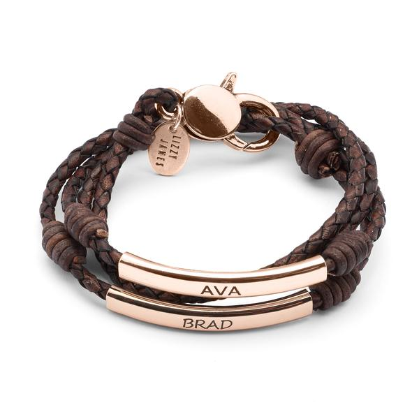 The Perfect Pair Engravable Bracelet - Rose Gold
