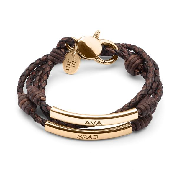 Perfect Pair Engravable Bracelet - Gold