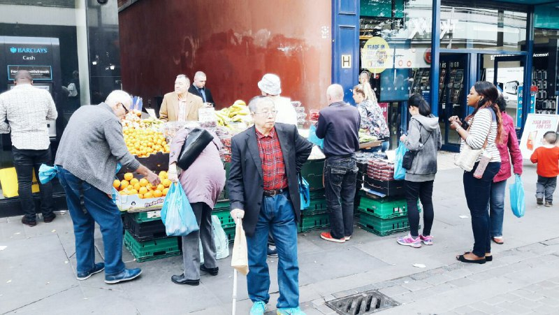 Manchester City Centre market stall