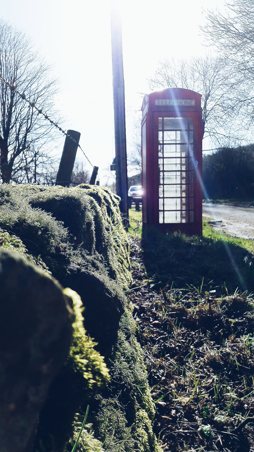 Telephone box in Hollinsclough