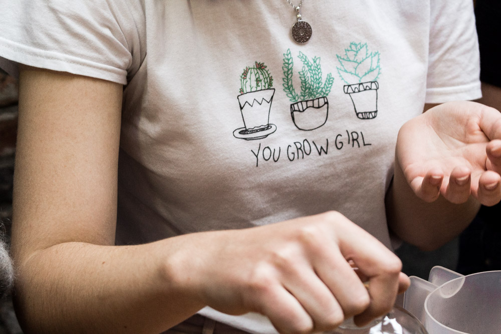 You grow girl t-shirt, Terrarium workshop, geo-fleur, at Form Lifestyle Store, Manchester