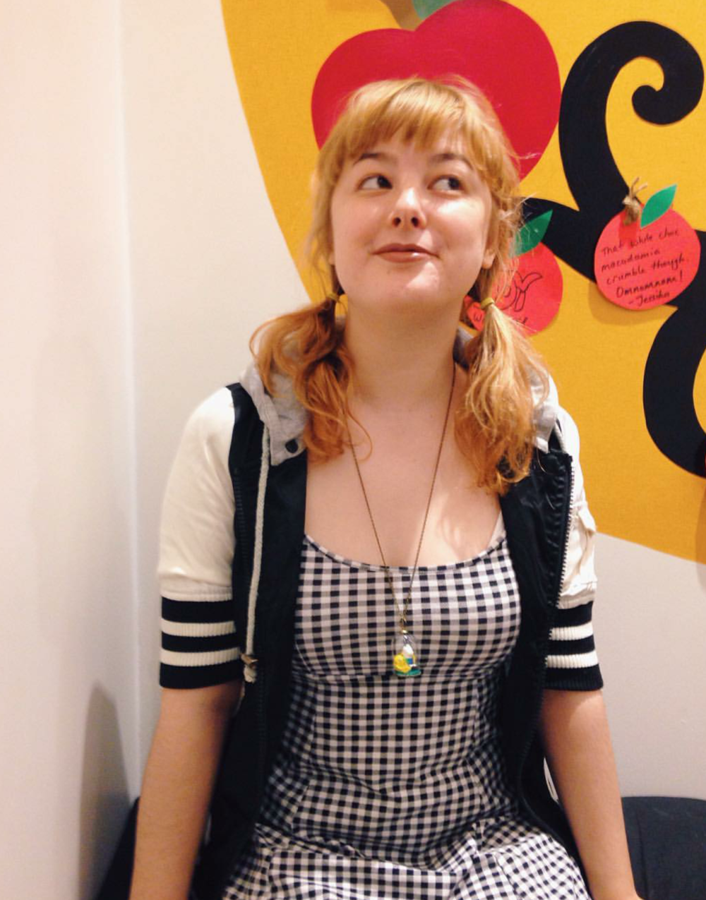 Forever adorable @littlepineneedle wearing her Finn and Jake Adventure Time Jar necklace