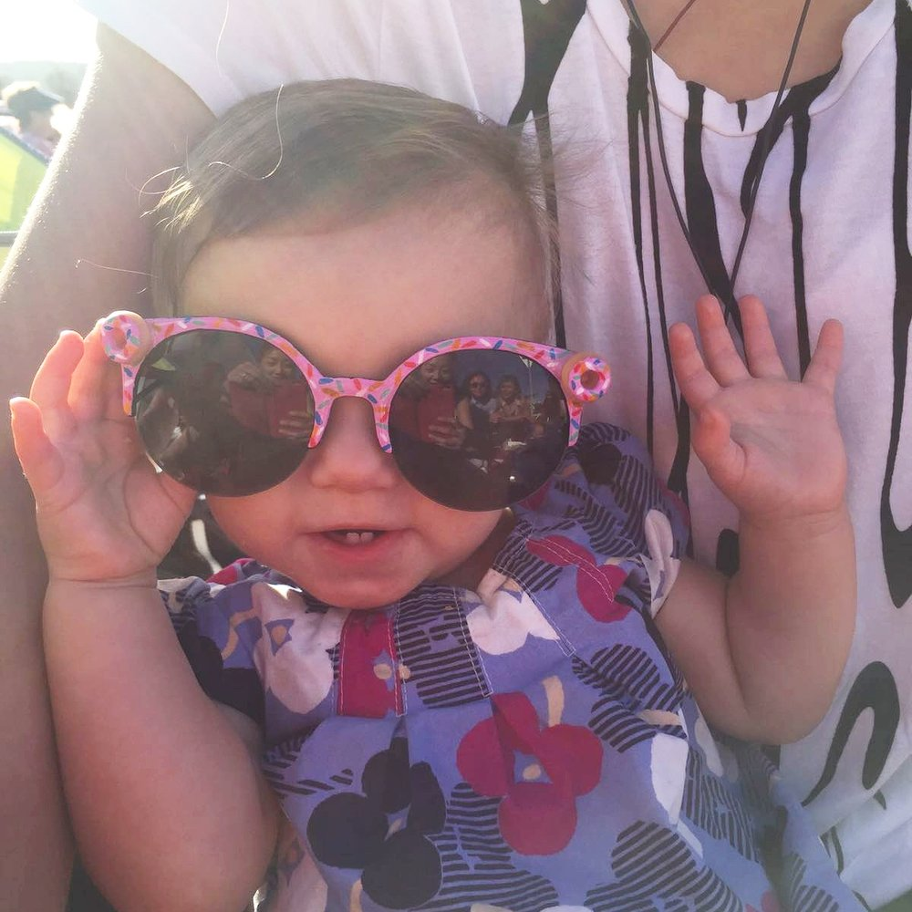 Beautiful baby Violet telling you to talk to the hand cos her sprinkle covered sunnies ain't listening!!