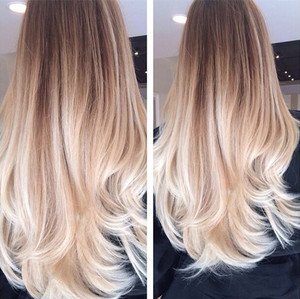Gorgeous ombre hair colour for women in vancouver bc golden brown ombre hair to blonde nice long urmus Images