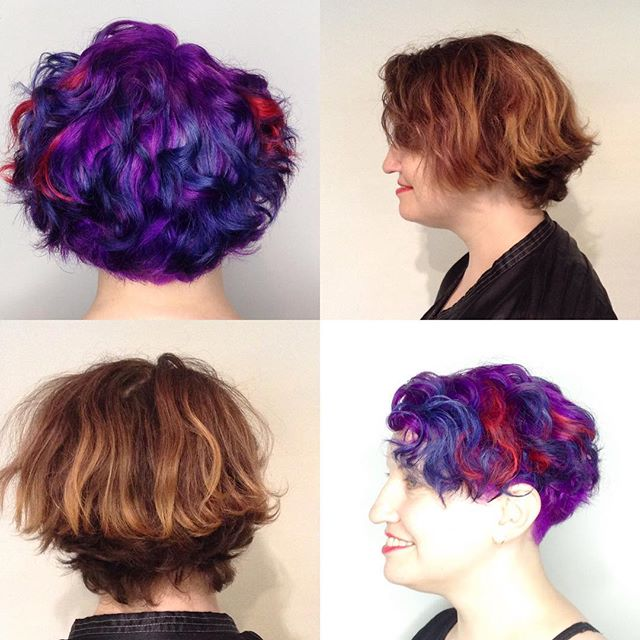 Getting funky for Summer? ☀️#loungehairyvr #haircolor