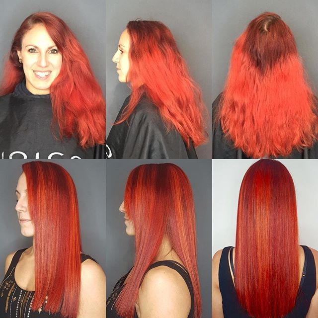 Canadian Autumn Red🍁#loungehairyvr #haircolor #red