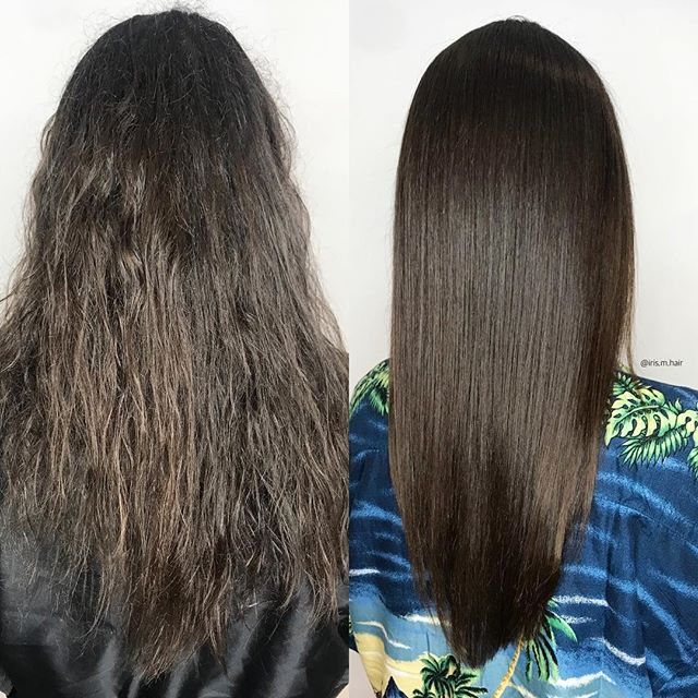 Before and after Keratin smoothing treatment, her wave is now less frizzy, and shinier! . . . . @_liquidkeratin_ #liquidkeratin #keratintreatment #smoothingtreatment #yaletown #yaletownhair #yaletownstylist #yaletownkeratin #vancouver #vancouversalon #vancouverstylist #vancouverkeratintreatment #beforeandafter #shinyhair #healthyhair #lowmaintenancehair