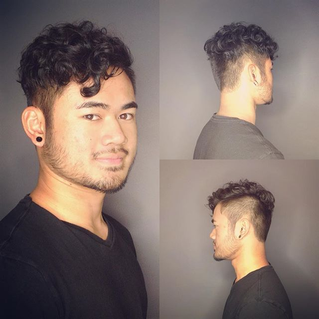 Hard to believe that this client has a straight hair before! Perm is BACK#loungehairyvr #mensperm #texture