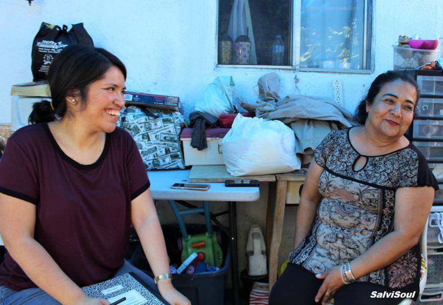 SalviSoul creator/author, Karla Vasquez interviewing Bartola, a SalviSoul participant.