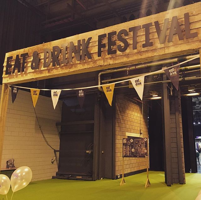 It's the final day at the @eat_drink_festival at the SEC in Glasgow, Valentino is fully stocked and ready to end the bank holiday in style, have a glass of fizz or one of our delicious gin cocktails from the @theginbothy. Pop along today we are open until 5pm 💛🍾🚕