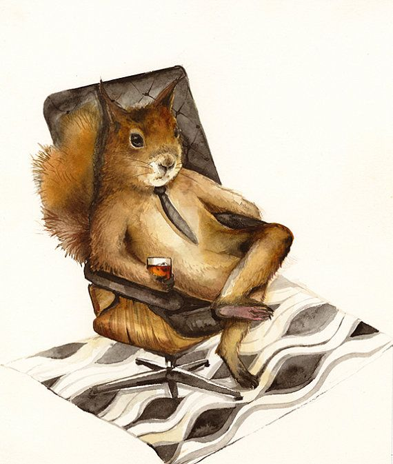 - Squirrel art by the wonderful artist amber alexander