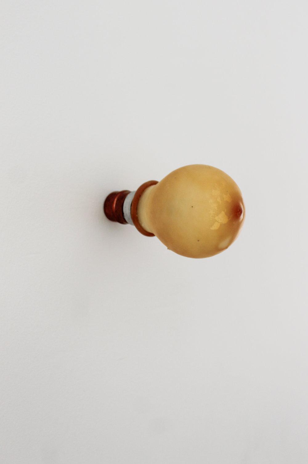 Kate V Robertson      Inanimate Object,  (2016)  Lightbulb, latex