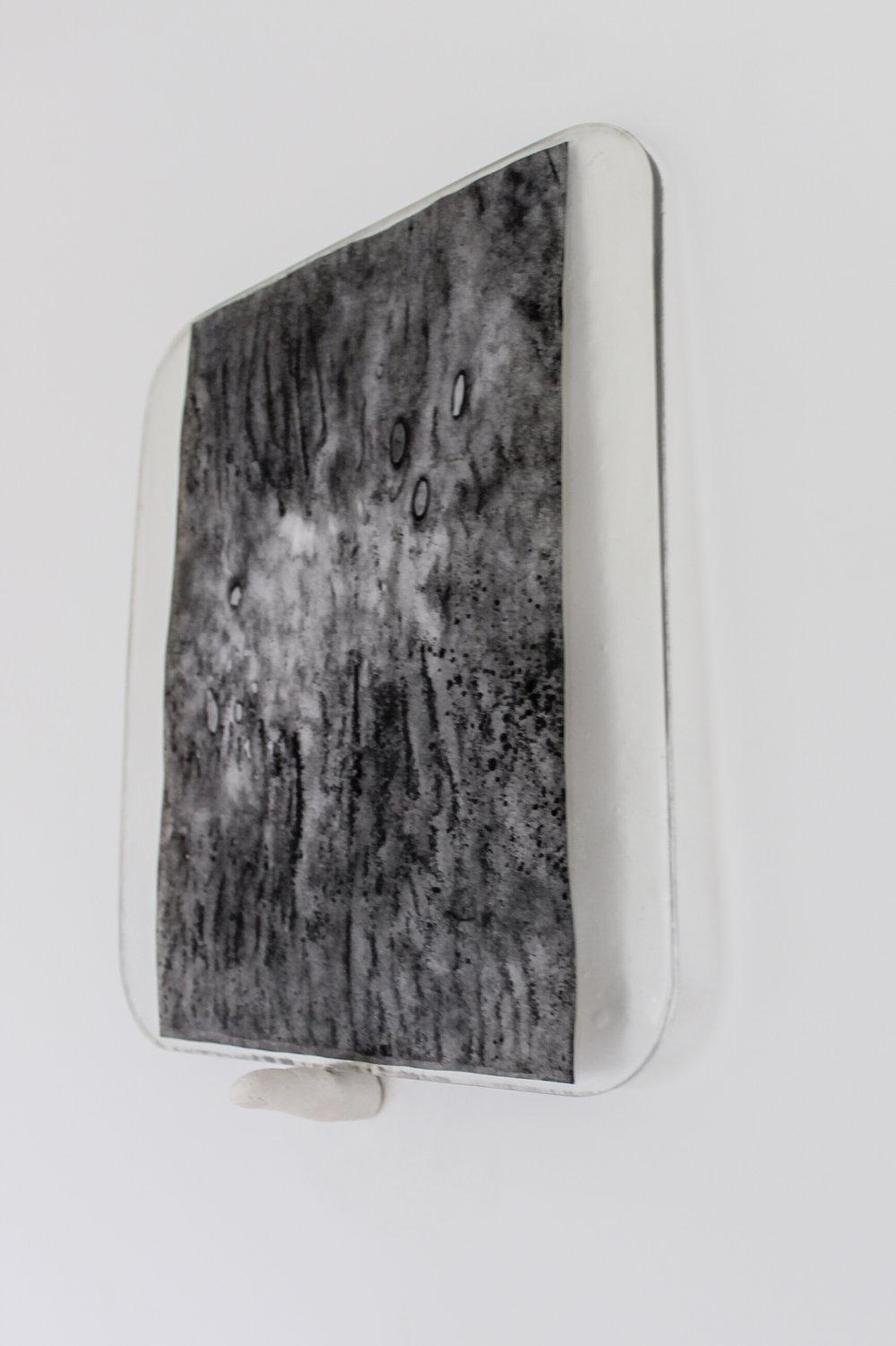 Kate V Robertson   Untitled (Saved) , (2016)  Ink on paper, resin, plaster