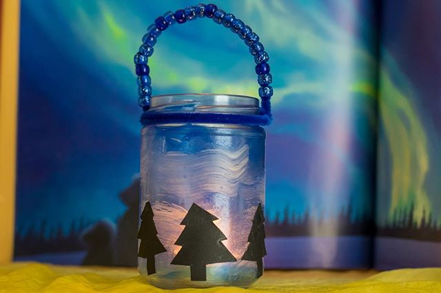 Make these beautiful glow-in-the-dark Northern Lights lanterns! https://www.herewearetogether.com/blog/2016/6/23/northern-lights-lantern-craft #homeschool #northernlights #kidscrafts #waldorf