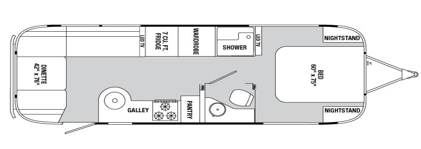This is our floorplan. Perfect for two full timers.