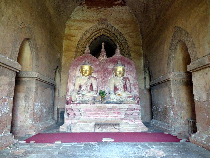 Rare Buddha pair inside Dhammayangyi Temple
