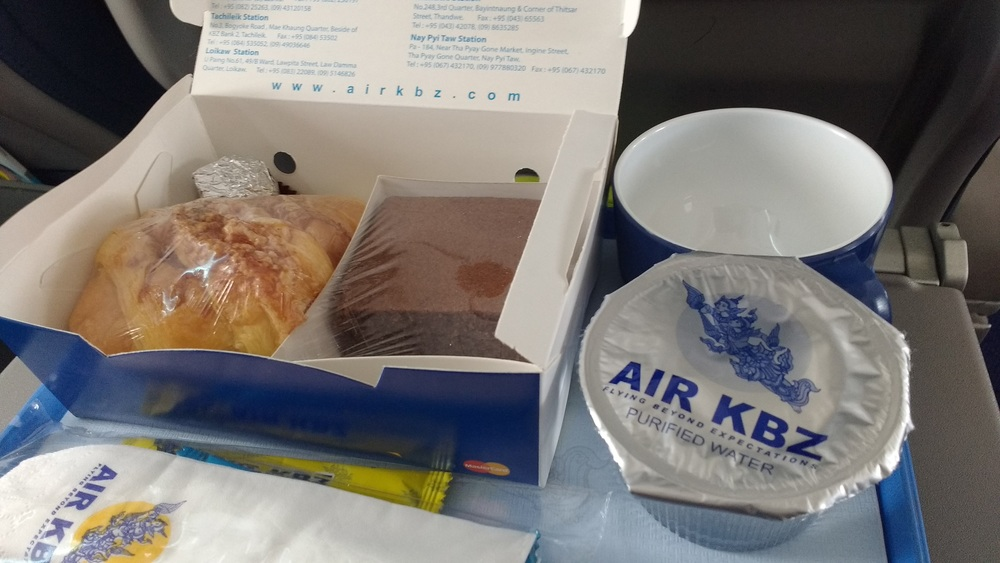 Air KBZ fed us on the 1 hour flight!