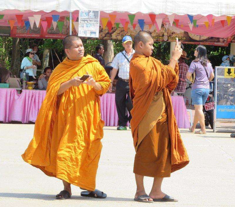 Monks taking selfies - does that make them monkies?