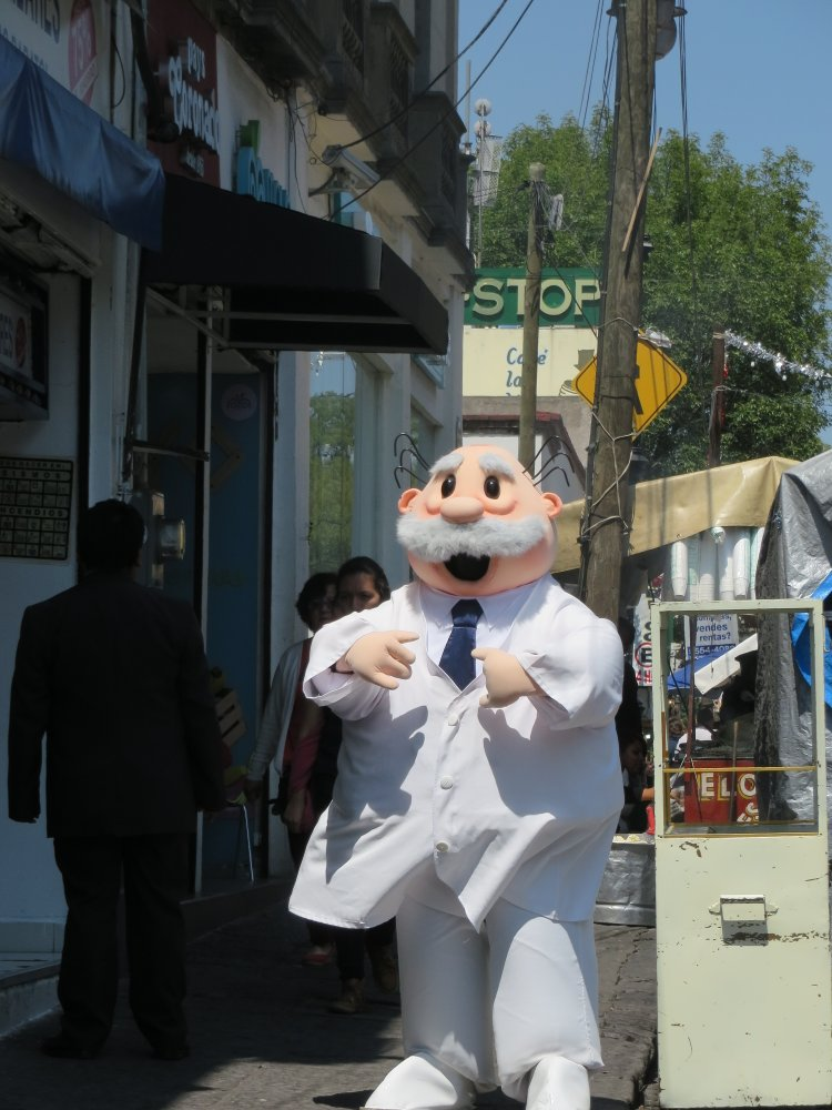 Dr Simi - the pharmacy mascot is ubiquitous