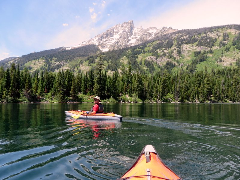Kayaking on Jenny Lake in GTNP