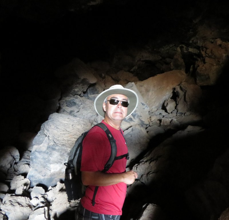 Hiking inside Lava Tubes