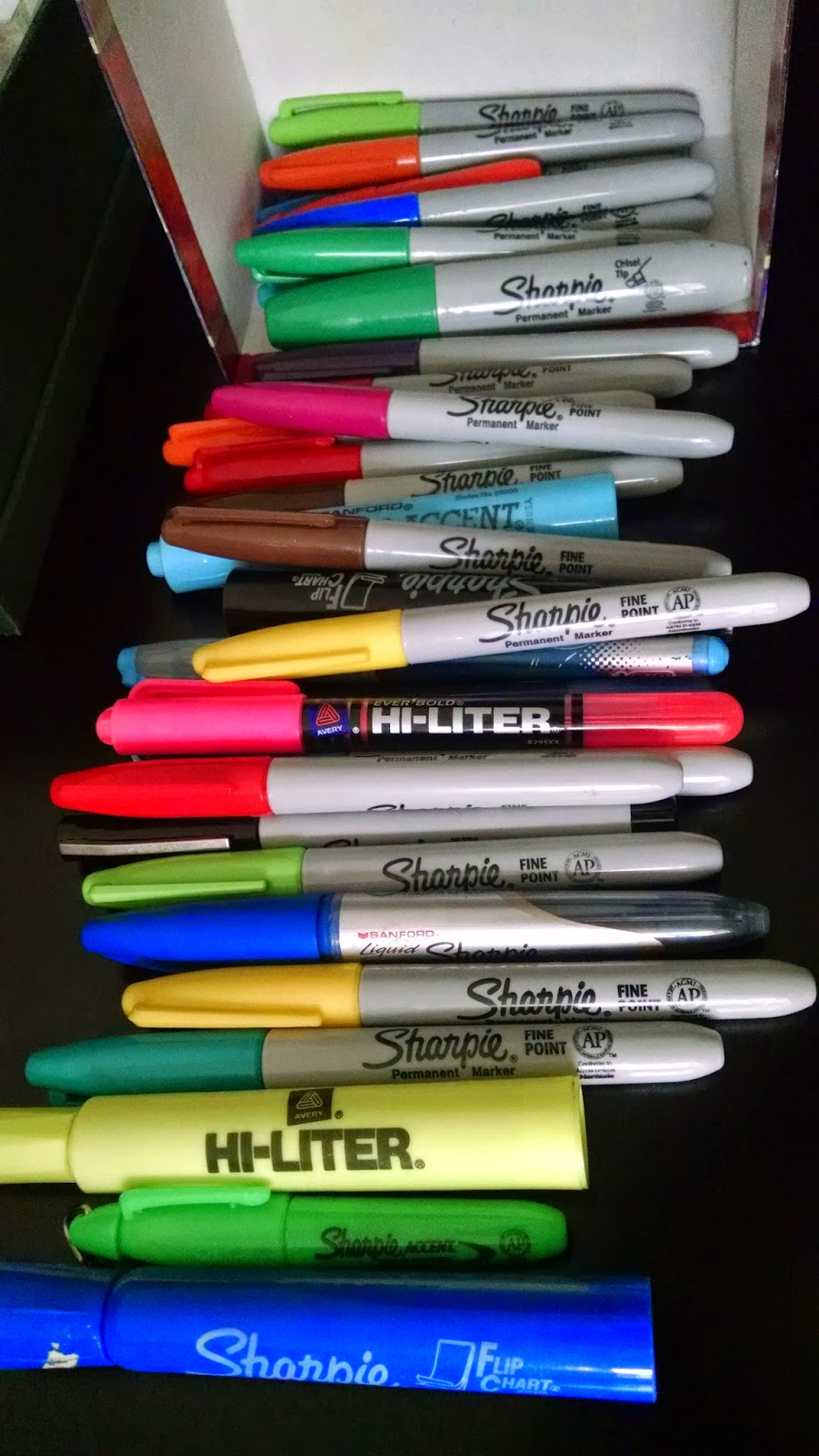 We don't miss all the stuff we got rid off! How many Sharpies do you need!!