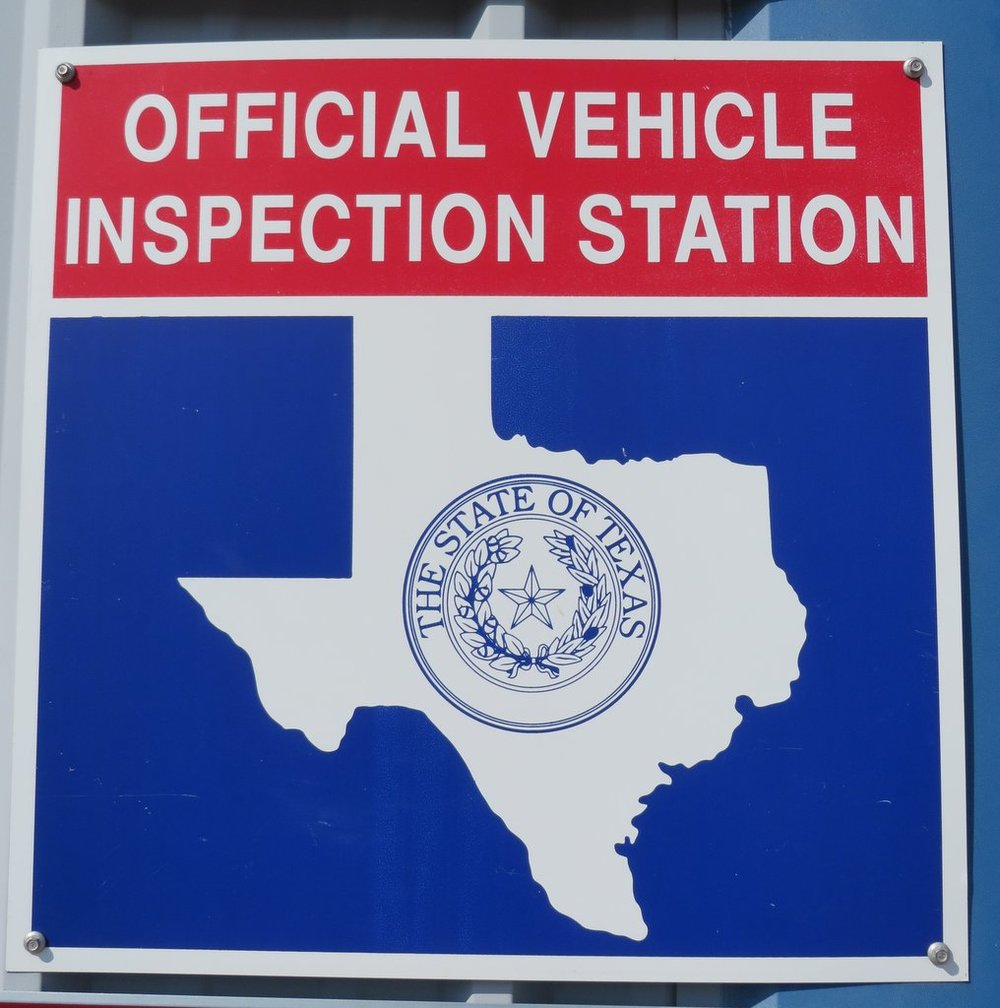 Look for this sign for an inspection station