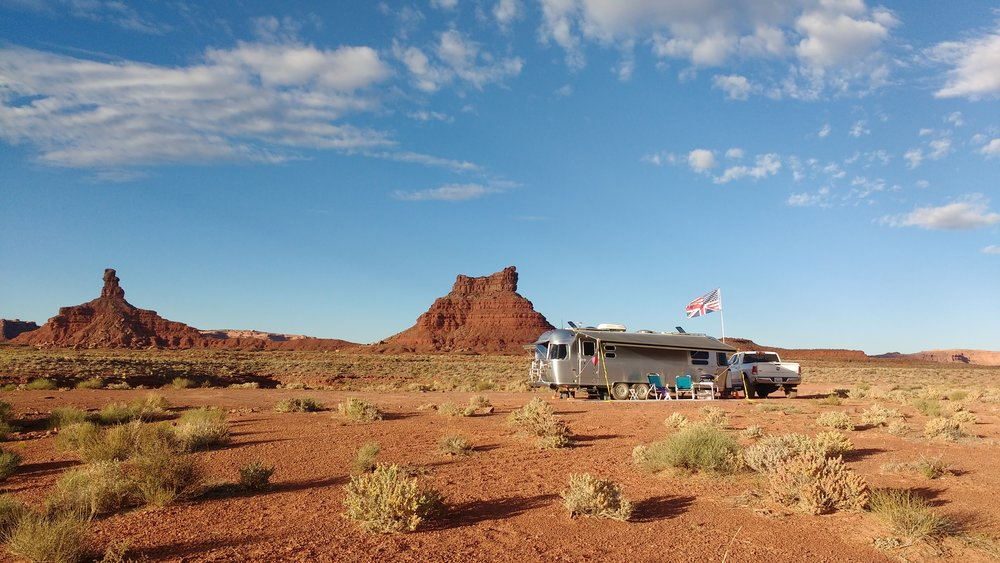 Our amazing boondocking spot at Valley of the Gods