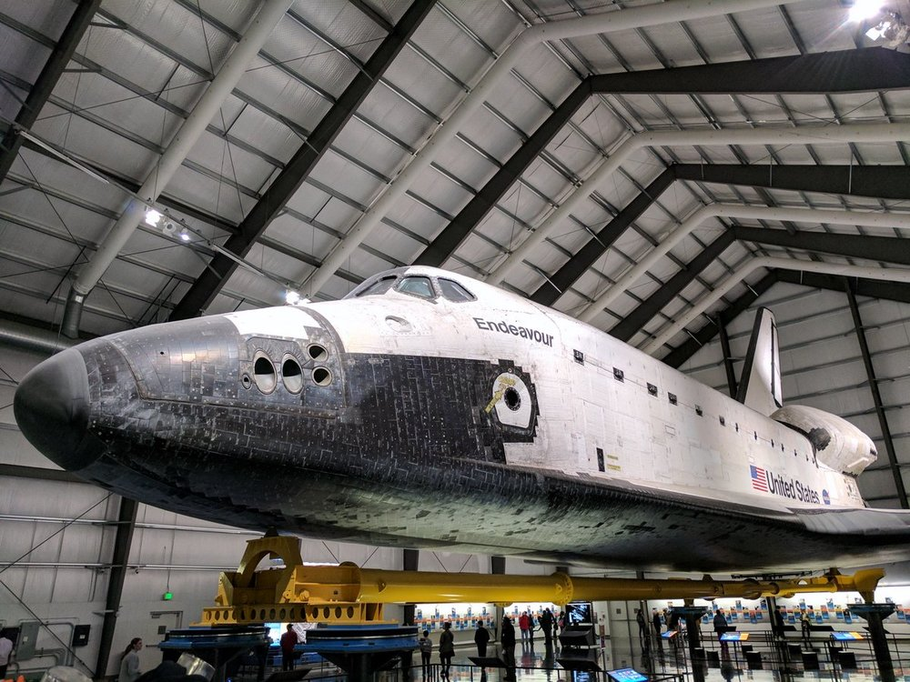 The perfect rainy day activity... Space Shuttle viewing