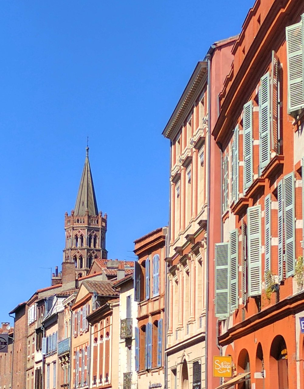 Streets of old town Toulouse