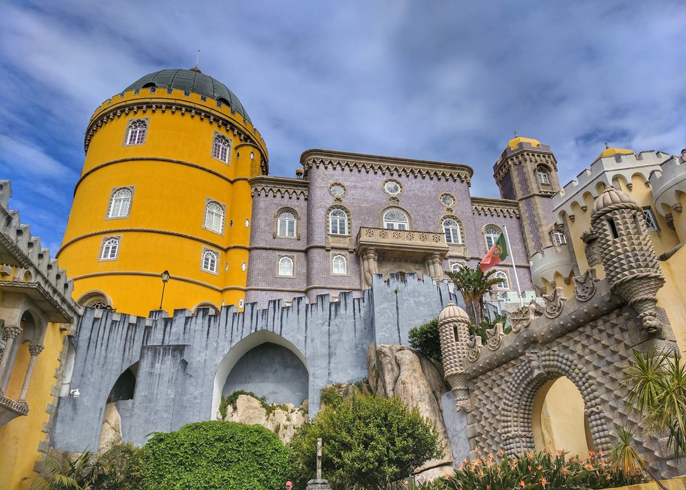 Beautiful exterior of Pena Palace