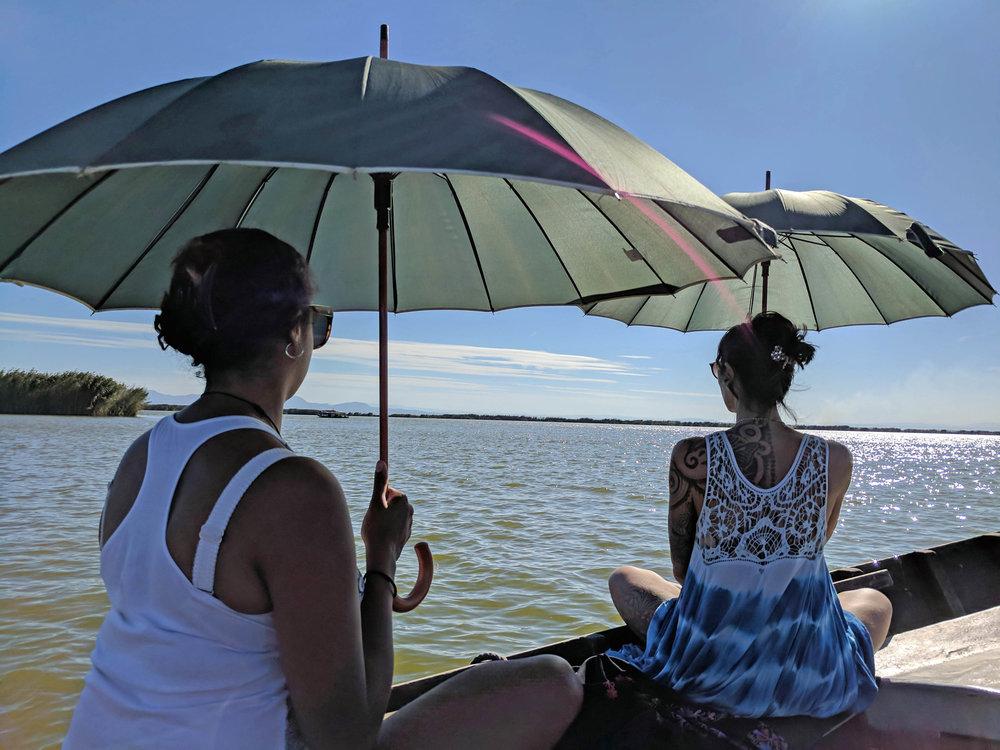 Pretty boat ride in the sunshine
