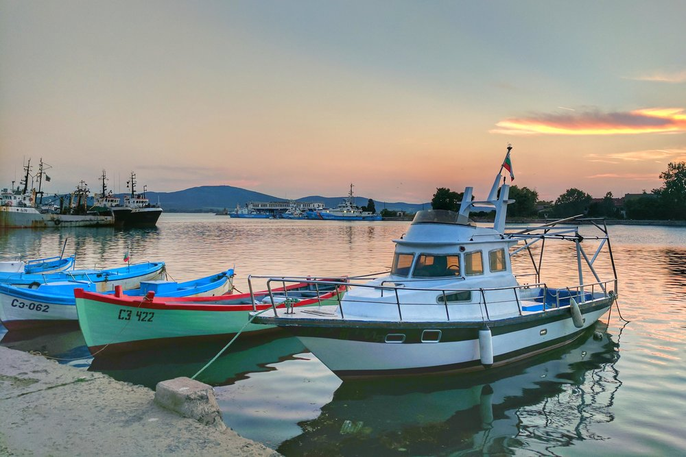 Harbor at Sunset, Sozopol.jpg