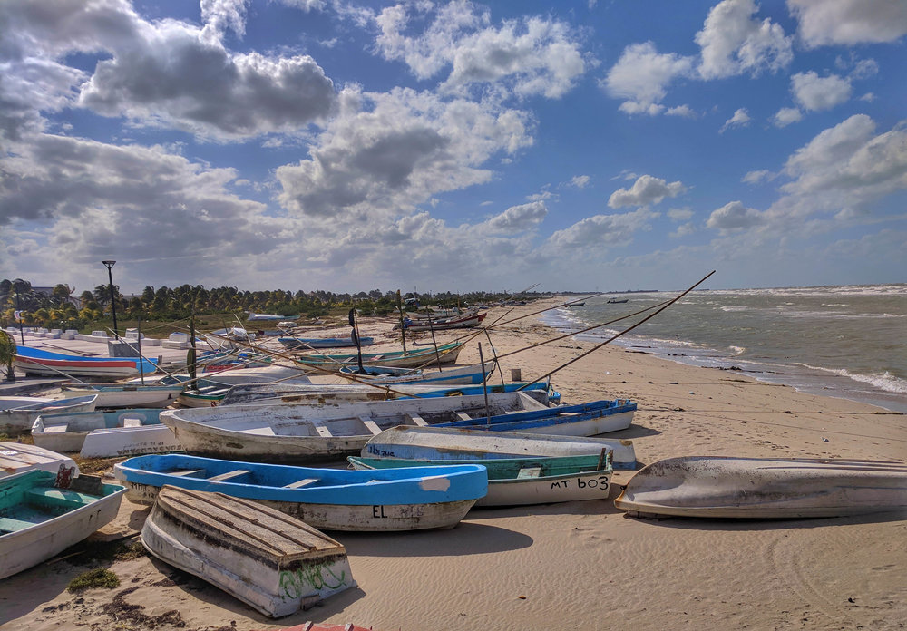 Boats on beach at Progresso.jpg