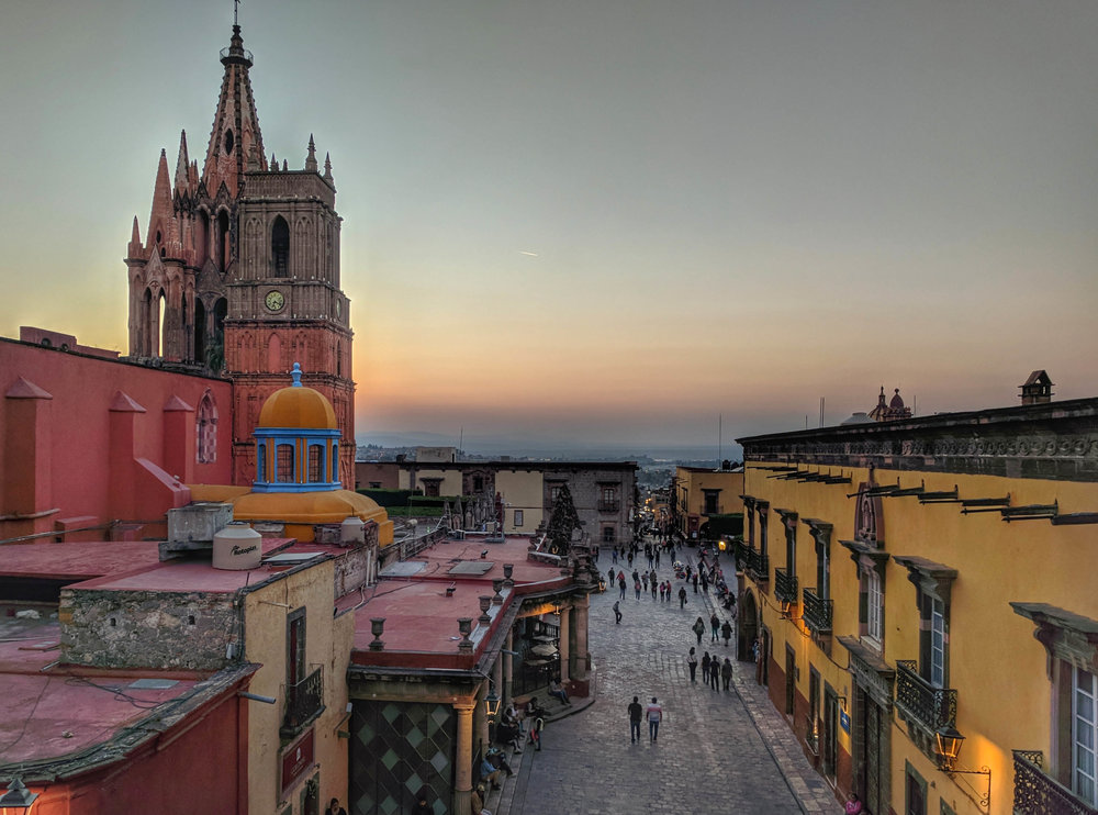 Twilight view from La Terraza