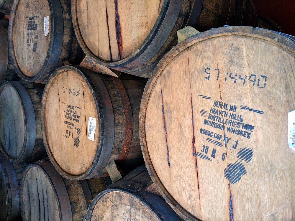 Bourbon barrels for aging