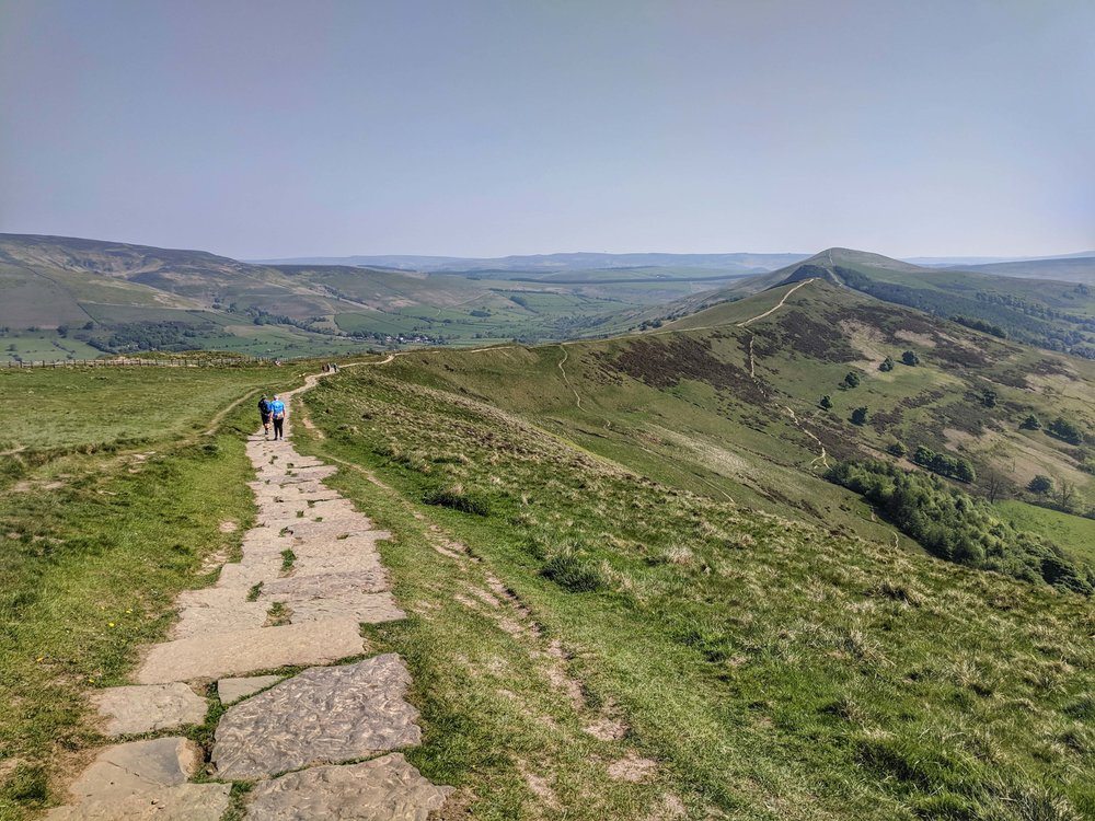 Walking the ridge at Mam Tor
