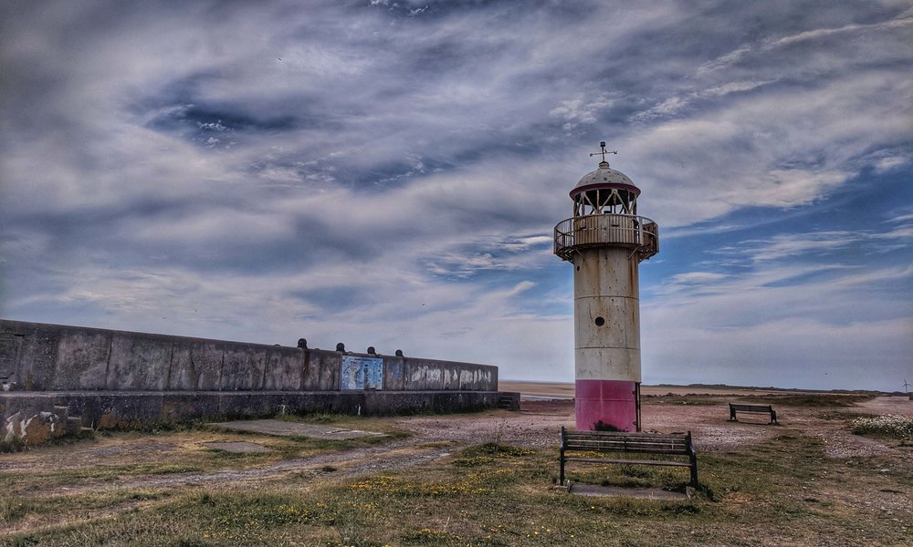 Moody lighthouse at Haverigg