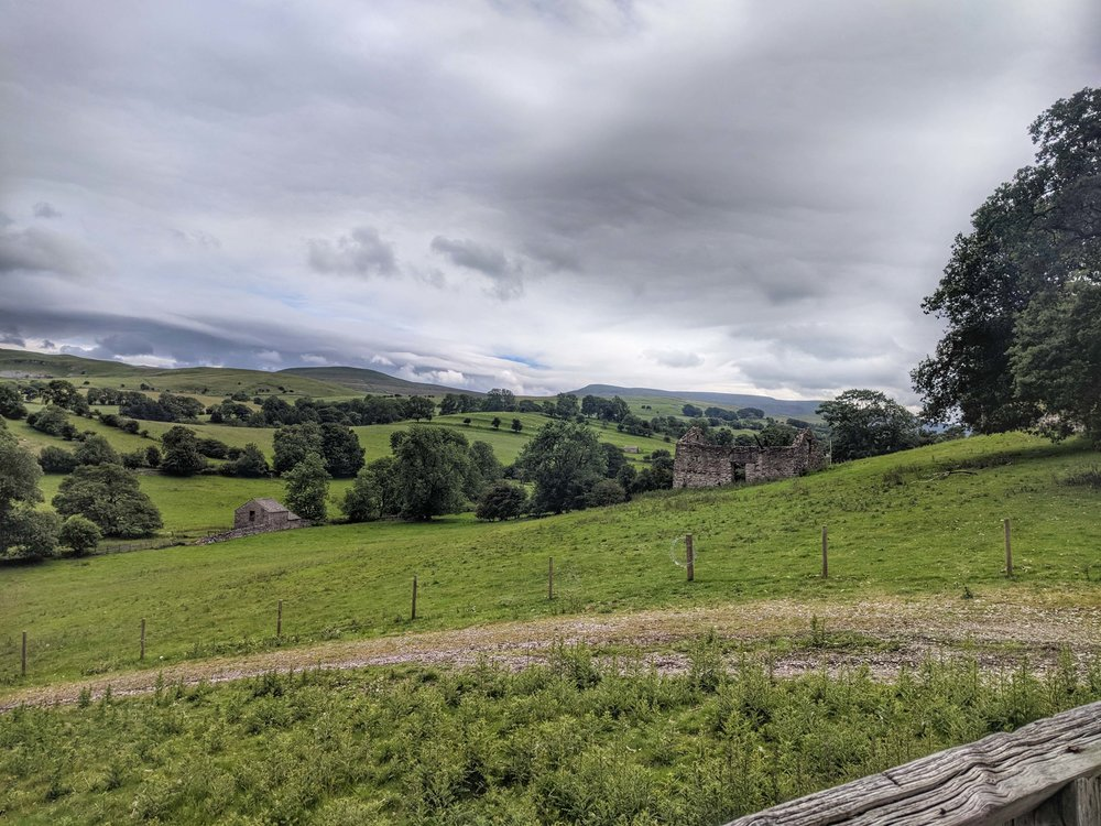 The rolling landscapes of the Yorkshire Dales at Nateby, Kirkby Stephen