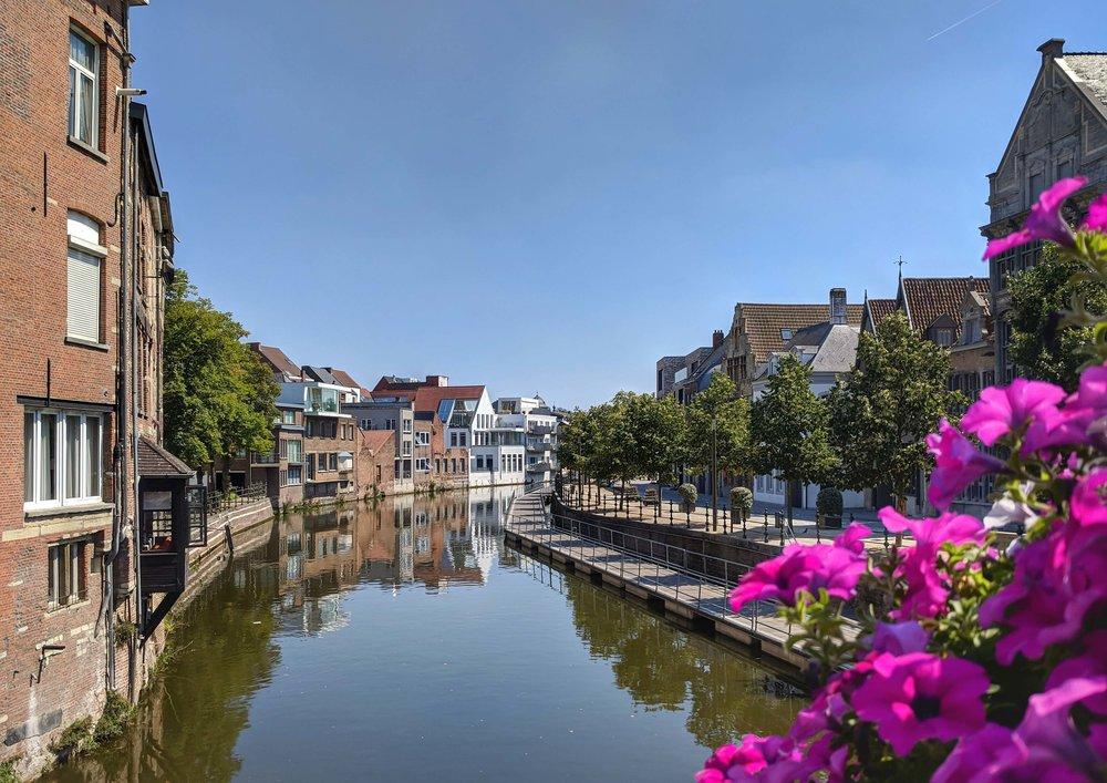 Summer scene in Mechelen