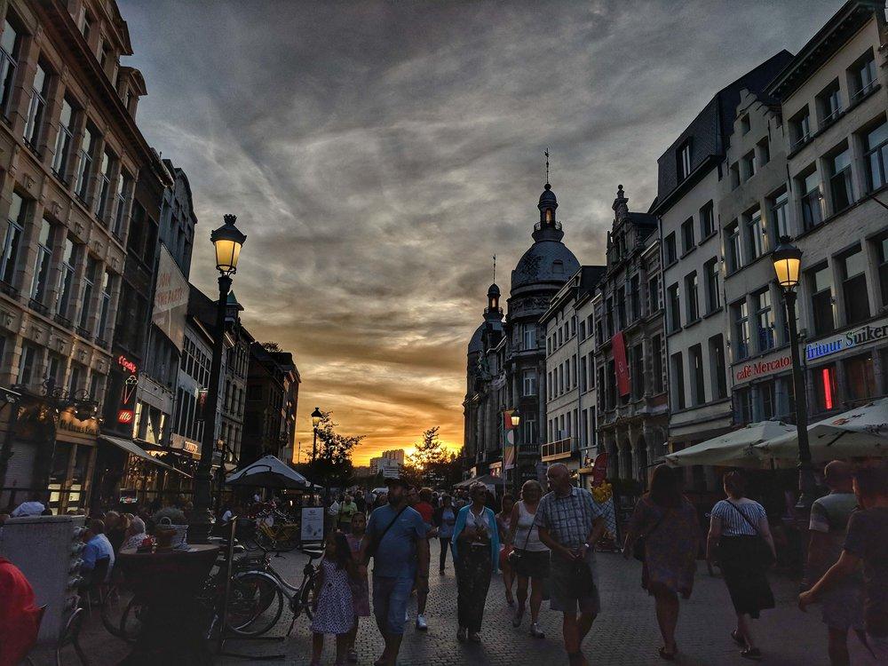 Balmy summer night in Antwerp