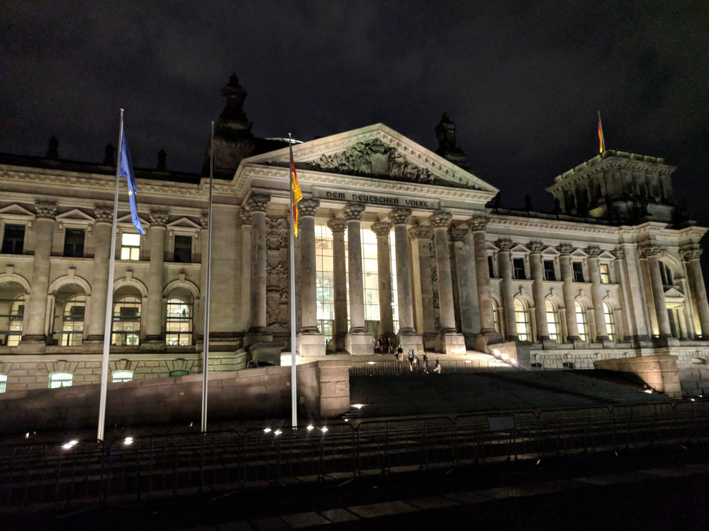 The infamous Reichstag building where the Bundestag is located