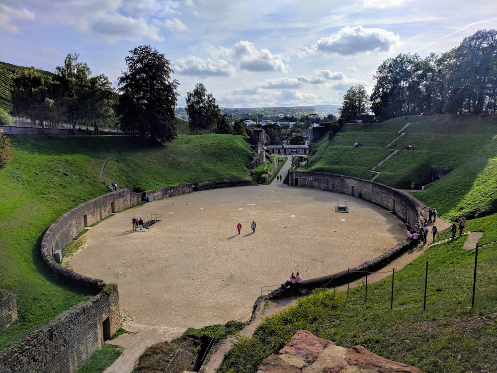 The Roman Amphitheater in Trier
