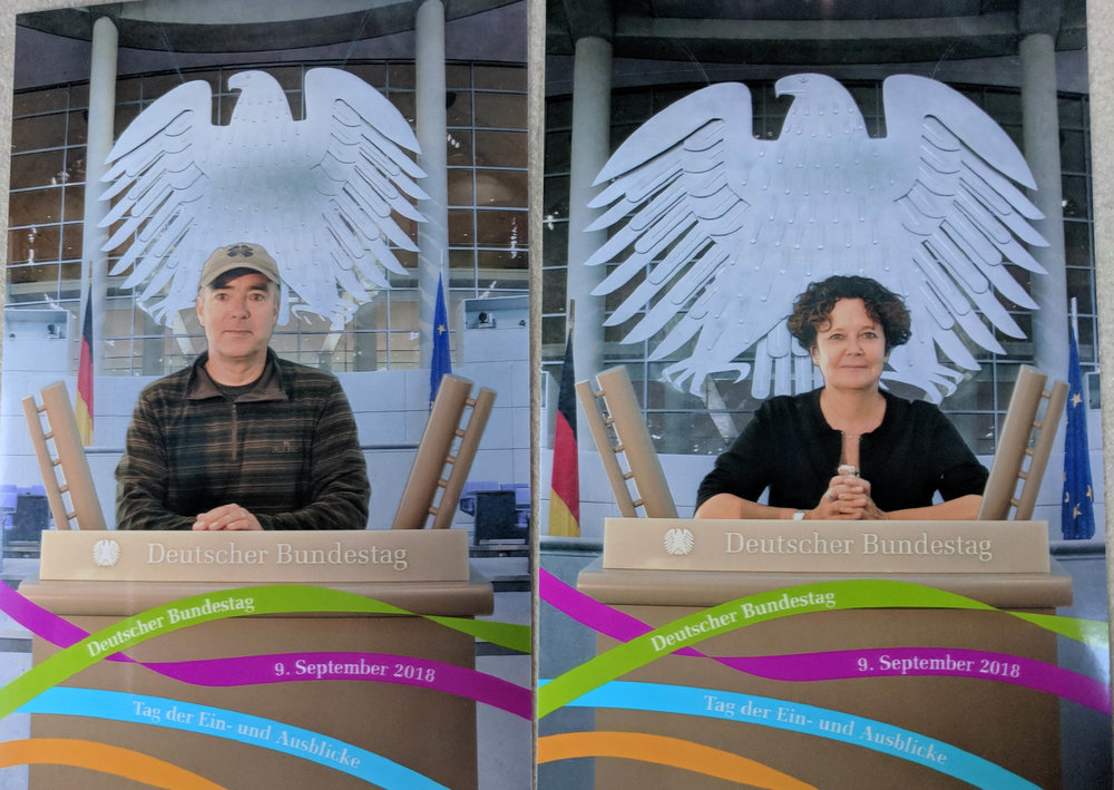 Playing politician in the Bundestag