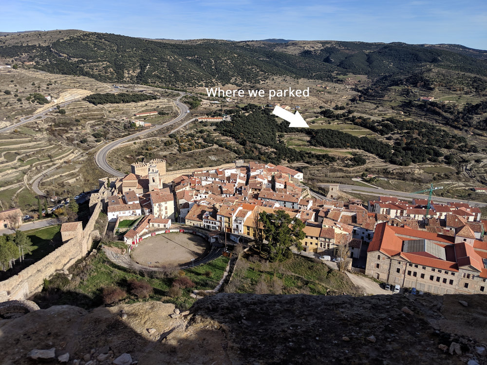 We could resist climbing to the top of the castle in Morella