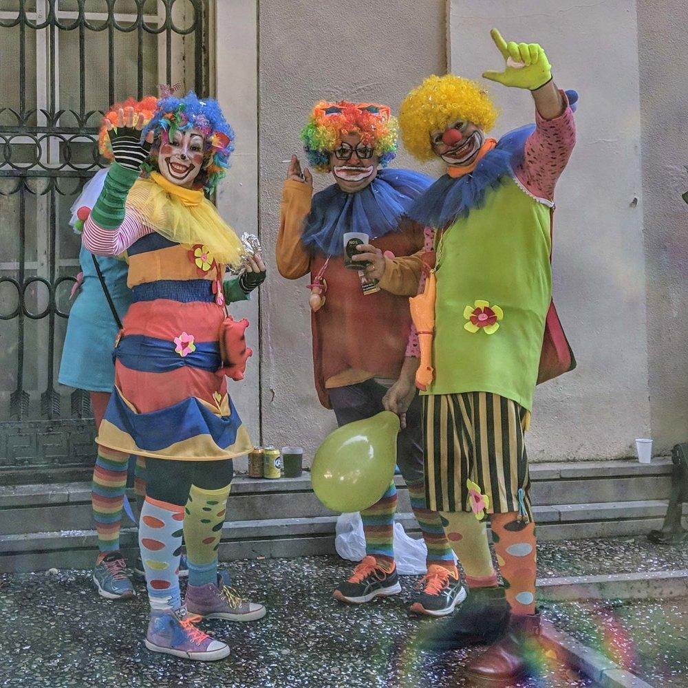 Happy clowns!