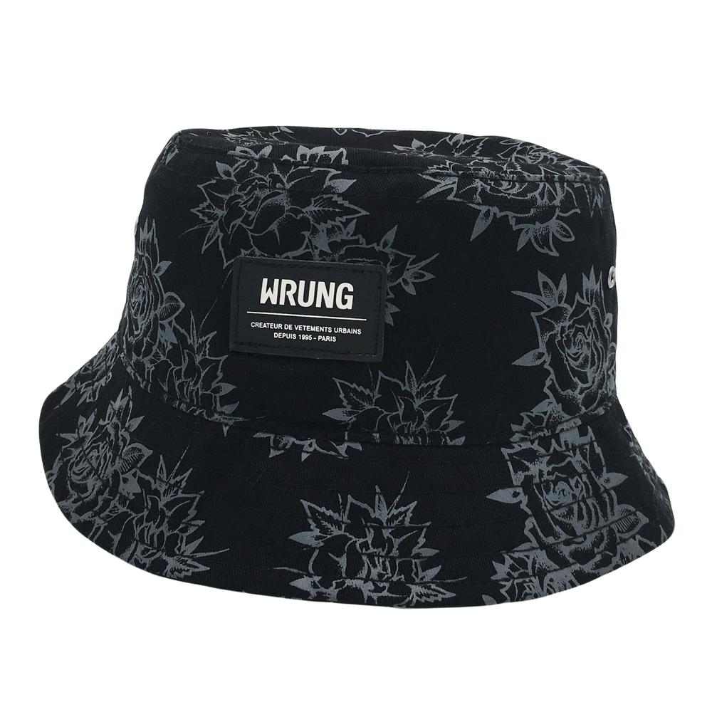 Custom Leather Patch Bucket Hat