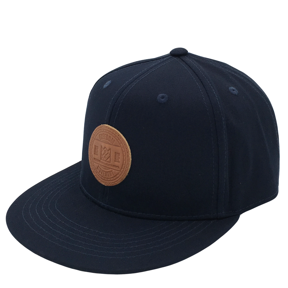 Custom Leather Badge 6 Panel Snapback