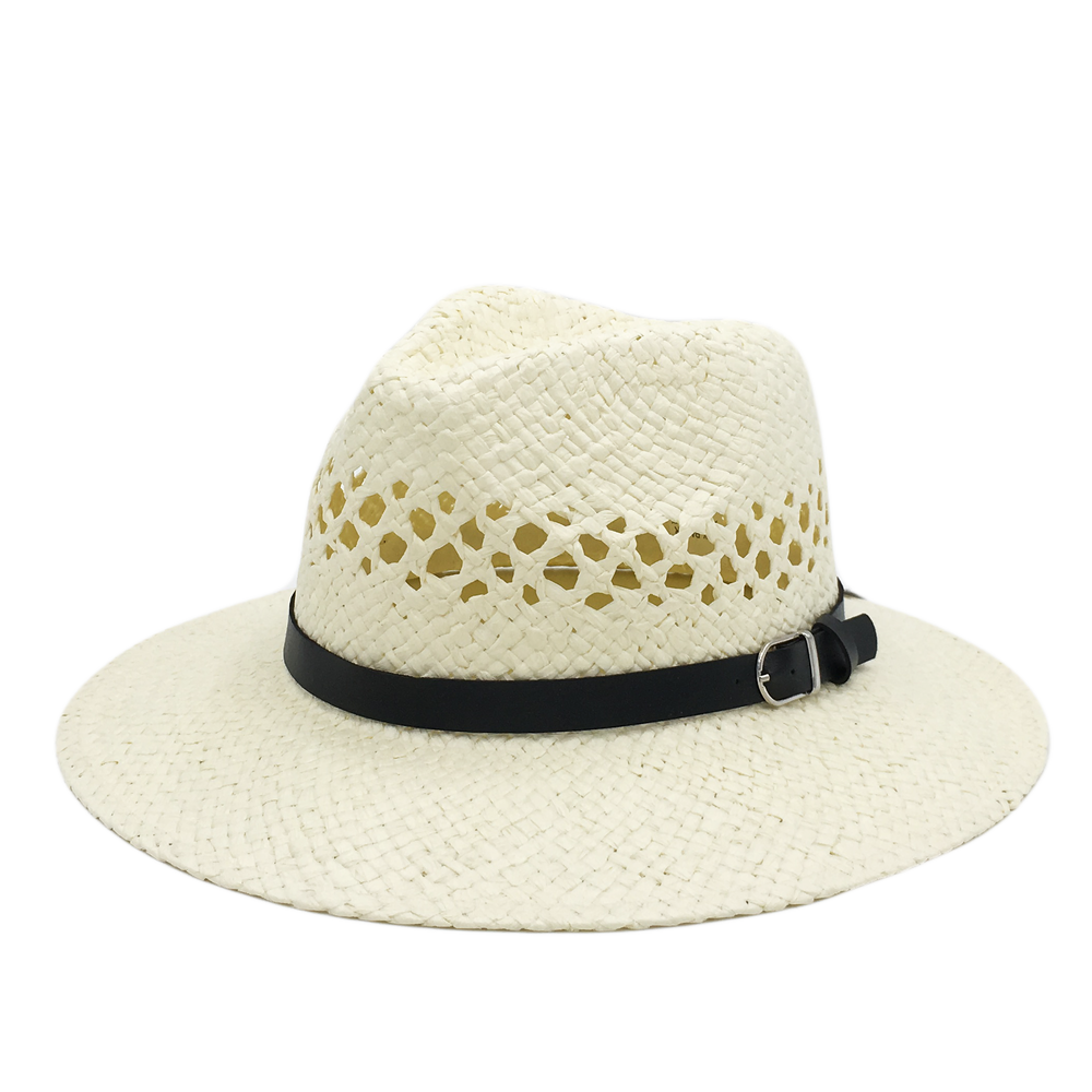 Custom Medal Buckle Straw Hat